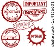 Set of important grunge rubber stamps, vector illustration - stock vector