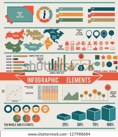 Set Infographic Elements Design Vector Elements Stock Vector ...