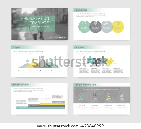 Set of infographic elements for presentation templates. Leaflet, Annual report, book cover design, corporate report . Brochure, layout, Flyer template design. Flat business style set. - stock vector