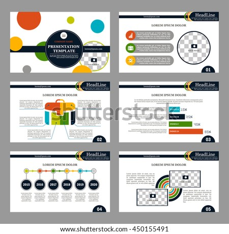 Set Infographic Presentation Template Infographic Element Stock ...