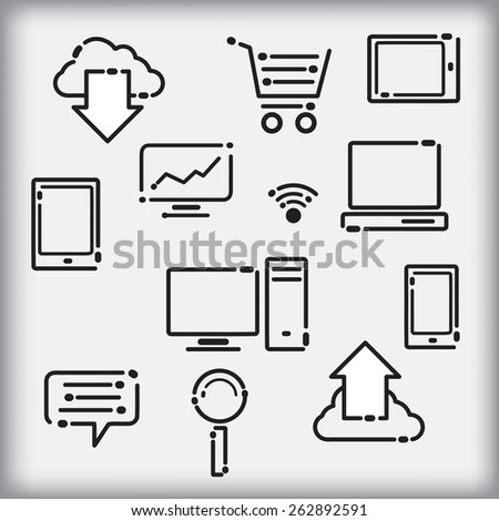 Set of infographic icons - stock vector