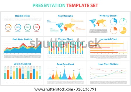 Set of infographic Presentation Template, infographic statistics,elements,charts,business flyer,prototype,layout,corporate commercial data,marketing,design