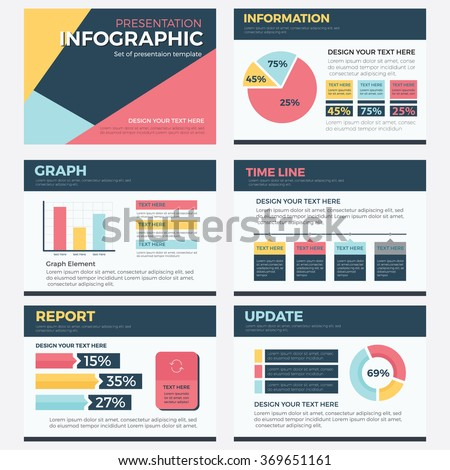 set infographic presentation concept business vector stock vector, Modern powerpoint