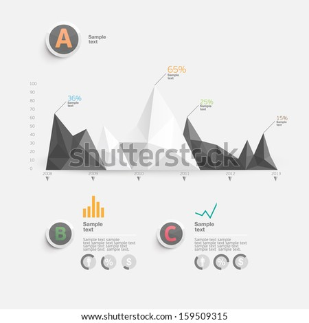 Set of infographics elements. - stock vector