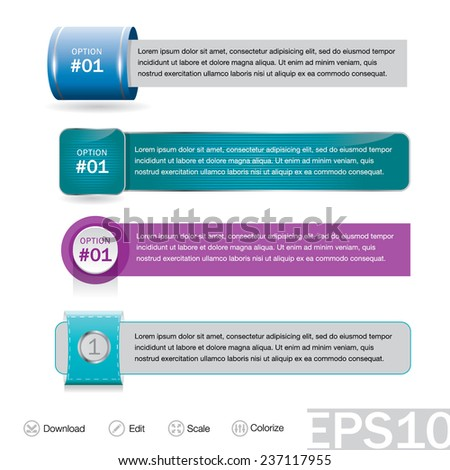 Set of infographics elements. Vector illustration can be used for workflow layout / diagram / number options / web design / presentation / education template / brochure / business report or plan. - stock vector