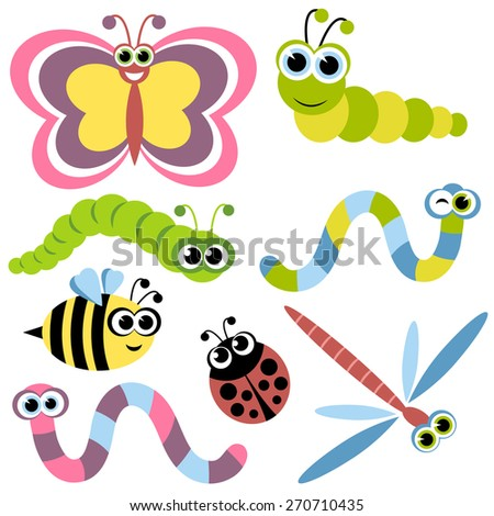 Set of insects - stock vector
