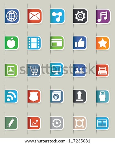 Set of internet bookmark - part 1 - vector icons - stock vector
