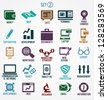 Set of internet services icons - part 2 - vector symbols - stock photo