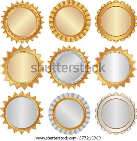 set of isolated badges - design elements - stock vector