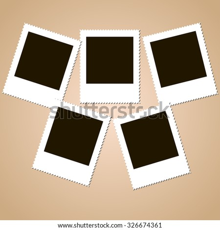 set of isolated Photo frames - stock vector