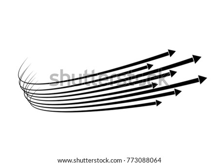 Line Art Effect Photo : Set isolated speed lines effect movement stock vector 773088064