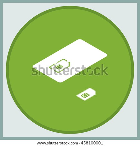 Set of isometric sim card and case illustration. - stock vector