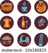 set of Italy vector icons - stock vector