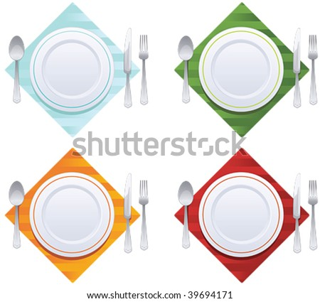 set of kitchen object - stock vector