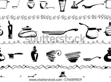 Set of kitchen utensils  - stock vector