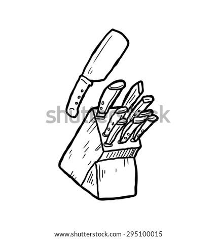 set of knife - stock vector