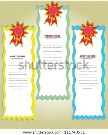 Set of label, banners,Vector - stock vector