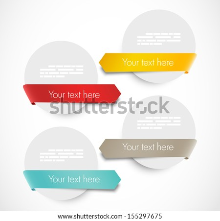 Set of label with ribbons - stock vector