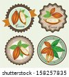 Set of labels for cocoa - stock vector