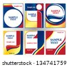 set of labels made in three colors - stock