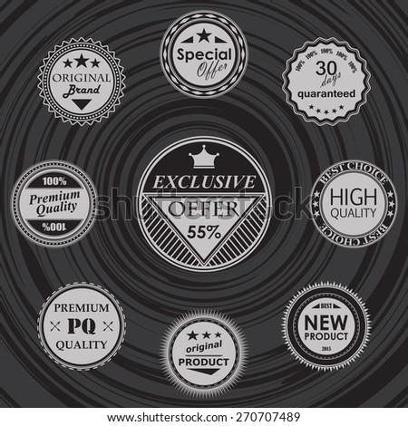 Set of labels. Retro Vintage Design            - stock vector