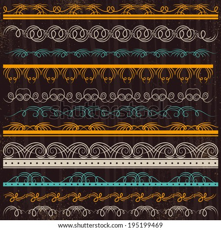 Set of Lace Paper, border, frame, vector