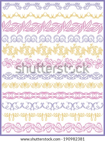 Set of Lace Paper with flower, vector - stock vector
