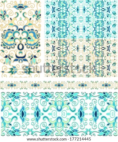 Set of laced  decorative elements - stock vector