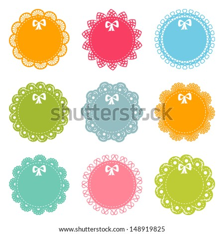 set of lacy frames - stock vector