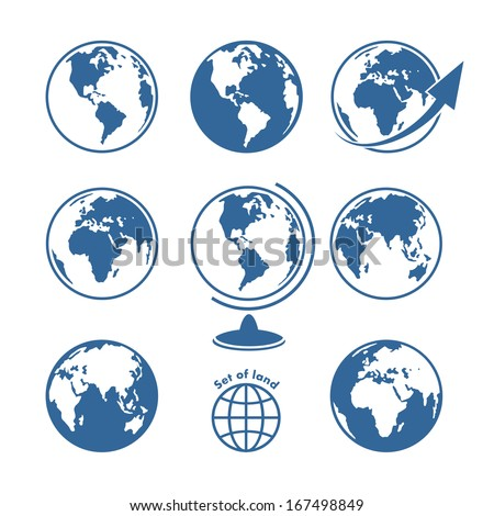 Set of land - stock vector