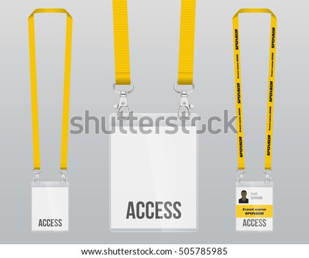 Visitors Badge Template Stock Images Royalty Free Vectors Shutterstock