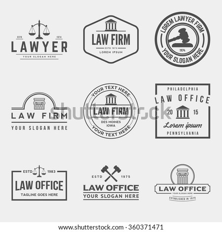 set of law office logos. vector illustration - stock vector