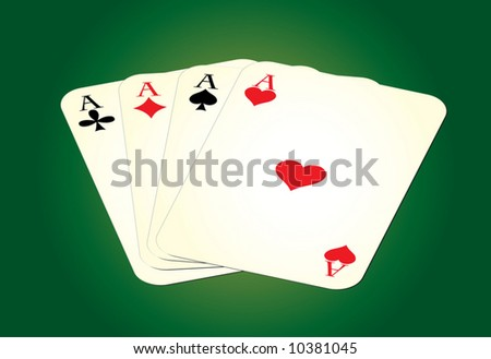Set of leisure cards on green background. Vector illustration.