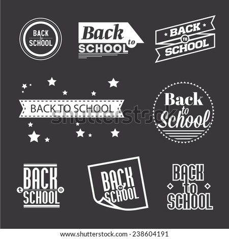 """Set of lettering """"Back to School"""", typography design elements   - stock vector"""