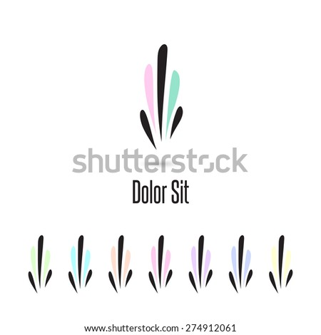 Set of logo elements. Vector Illustartion EPS10. - stock vector