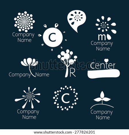 Set of logo templates. Can be used for: psychological counseling center, development, coaching, self-development course, children's center, family and child therapy. Dark background, white characters.