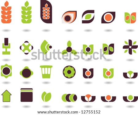 set of logos -28 - stock vector