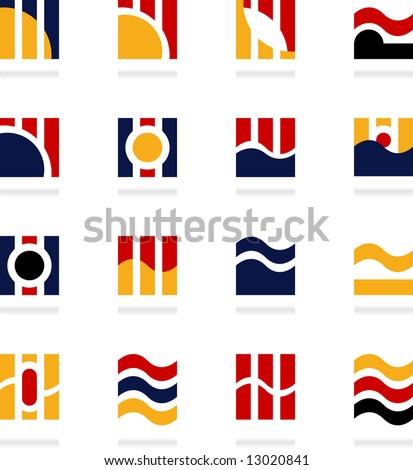 set of logos - media - 16 - stock vector