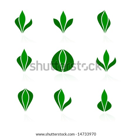 Set of logos - plant. Vector-Illustration - stock vector