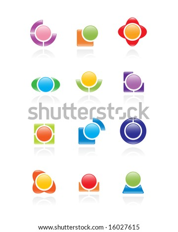 Set of logos. Vector-Illustration - stock vector