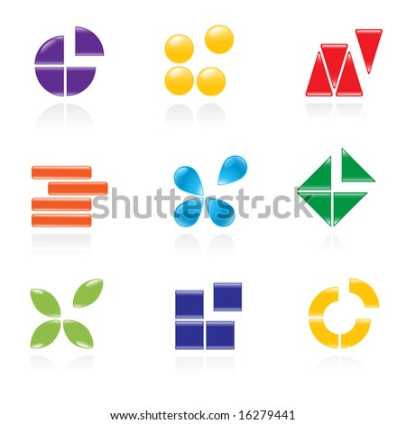 Set of logos. Vector-Illustration