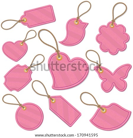Set of love related tags - stock vector
