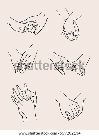 Drawings Of Couples Holding Hands