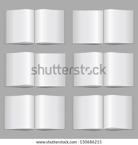 Set of magazine templates, vector eps10 illustration - stock vector