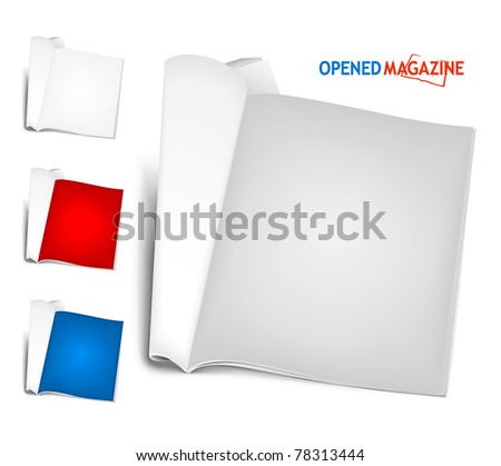Set of magazines - stock vector