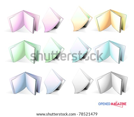 Set of magazines - stock vector