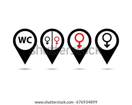 Bathroom Sign Location restaurant bathroom stock images, royalty-free images & vectors
