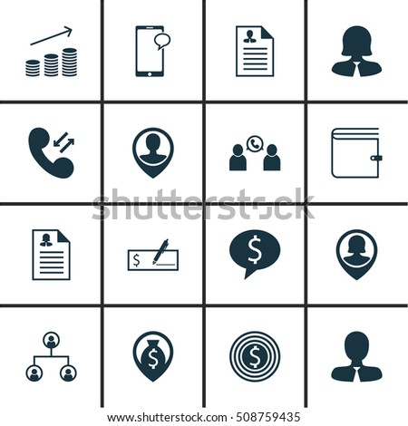 Set Of Management Icons On Messaging, Female Application And Cellular Data Topics. Editable Vector Illustration. Includes Phone, Wallet, Profile And More Vector Icons.
