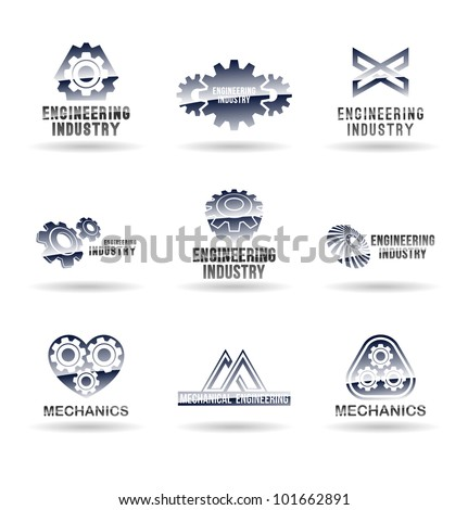 Set of mechanical engineering icons (set 2). Mechanic icon. - stock vector