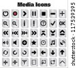 Set of Media Icons - stock vector